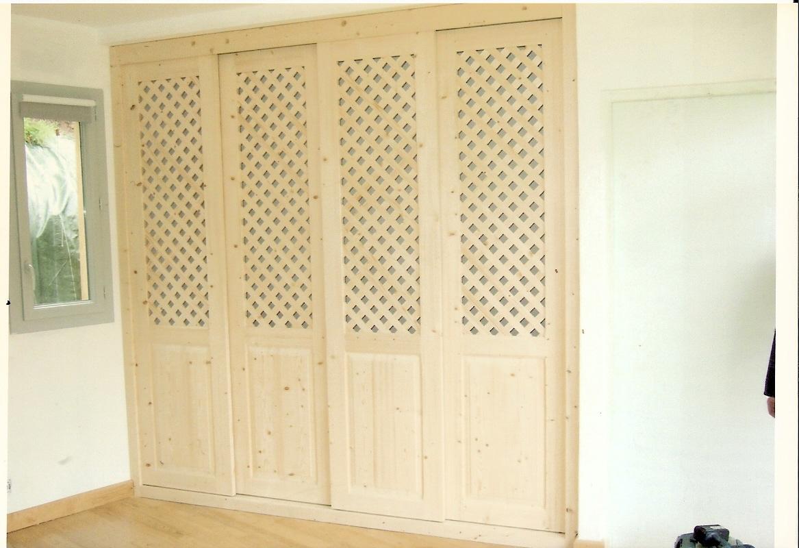 Porte de placard - Porte de placard en bois ...